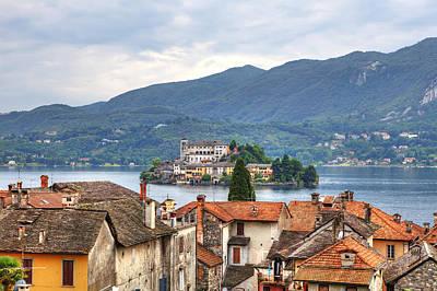 Orta - Overlooking The Island Of San Giulio Art Print by Joana Kruse