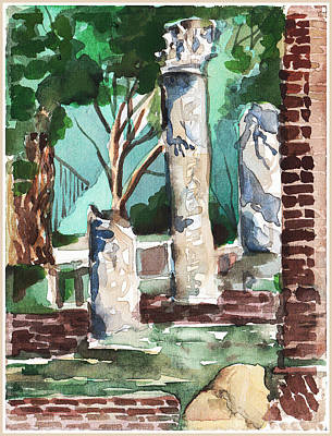 Ostia Antica Original by Mindy Newman
