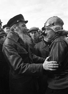 Schmidt Photograph - Otto Schmidt, Soviet Arctic Explorer by Ria Novosti