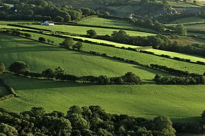 Overlook Of Green Pastures Art Print