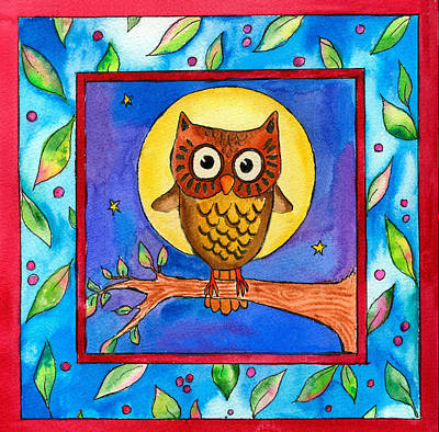 Painting - Owl by Pamela  Corwin