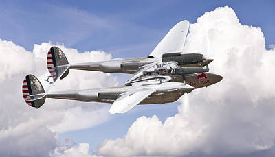 Photograph - P-38 Lightning by Ian Merton