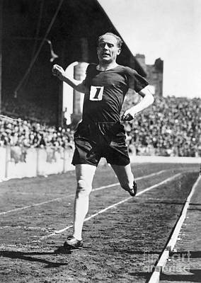 Ambition Photograph - Paavo Nurmi (1897-1973) by Granger