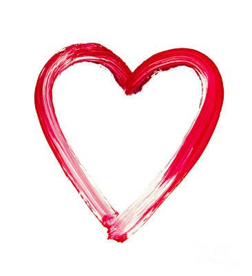 Painted Heart - Symbol Of Love Art Print by Michal Boubin