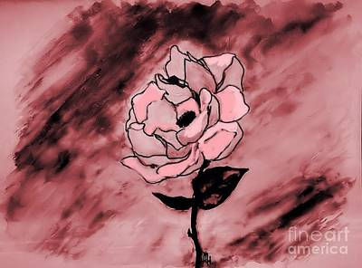 Painted Rose Abstract Original