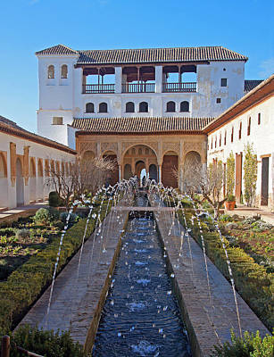 Palace Of The Generalife Art Print