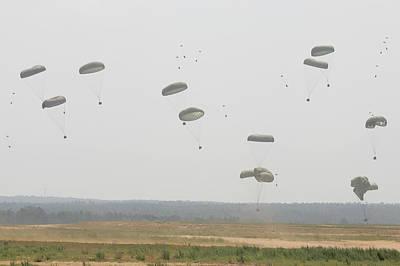 Paratrooper Supplies Coming Art Print by Skip Brown
