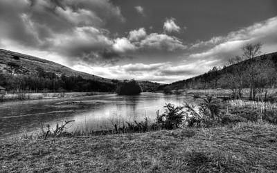 Monochrome Photograph - Parc Cwm Darran Frosty Morning by Steve Purnell