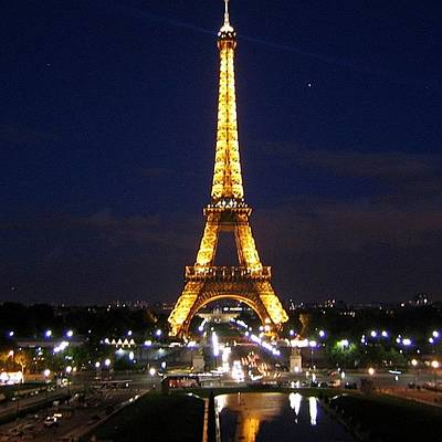 Light Photograph - Paris By Night by Luisa Azzolini