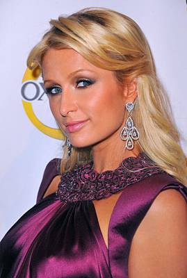 Chandelier Earrings Photograph - Paris Hilton At A Public Appearance by Everett