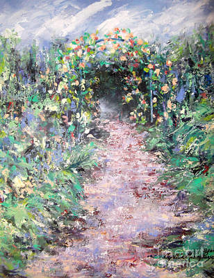 Painting - Parsons Garden Walk by Cynthia Parsons