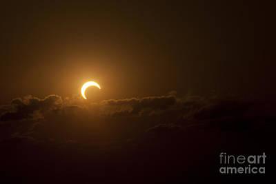 Partial Solar Eclipse Art Print by Phillip Jones