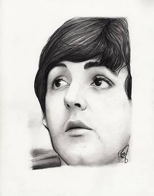 Mccartney Drawing - Paul Mccartney by Rosalinda Markle