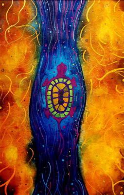 Sea Turtles Painting - Pause by Scott Harrington