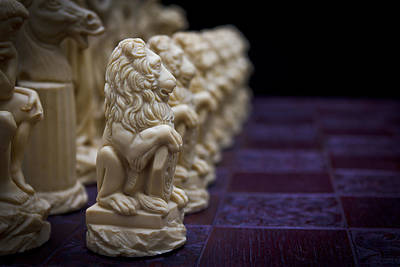 Pawns In A Row Art Print by Doug Long