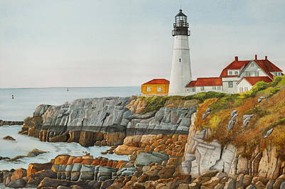 Portland Head Lighthouse Painting - Peaceful Morning by Gregg Litchfield
