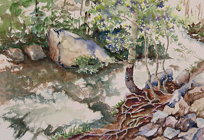 Tree Roots Painting - Peaceful Rush by Amy Caltry