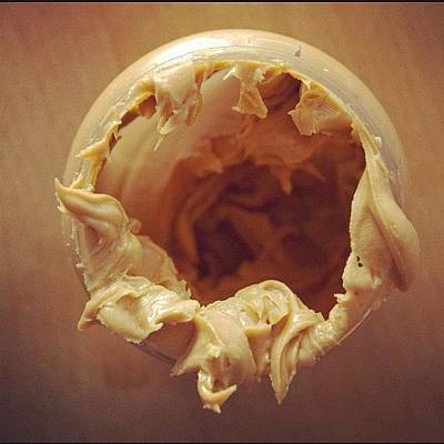 Eye Photograph - Peanut Butter - Empty Glass by Matthias Hauser