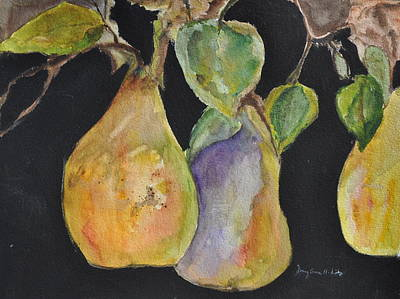 Painting - Pears On The Vine by MaryAnne Ardito