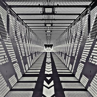 Walkway Digital Art - Pedestrian Bridge by Sharon Lisa Clarke