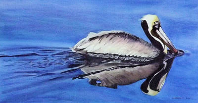 Painting - Pelican Glide by Cory Clifford