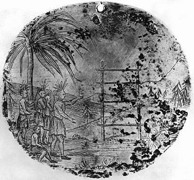 Human Sacrifice Photograph - Petalesharro Medal, 1821 by Granger
