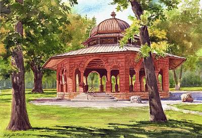 Painting - Pettibone Gazebo by Phyllis Martino