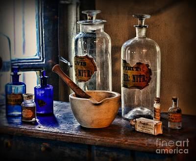 Mortar Photograph - Pharmacist - Mortar And Pestle by Paul Ward