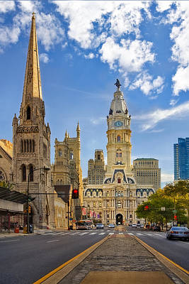 Landscape Photograph - Philadelphia City Hall  by Susan Candelario