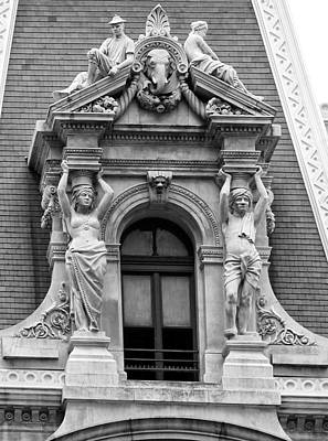 Philadelphia City Hall Window Art Print by Bill Cannon