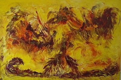 Painting - Phoenix by Gunter  Tanzerel