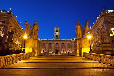 Photograph - Piazza Campidoglio by Brian Jannsen