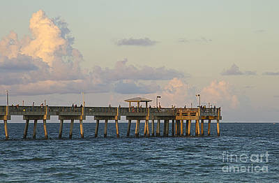 Pier Art Print by Blink Images
