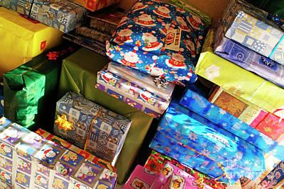 Pile Of Christmas Presents Art Print by Sami Sarkis