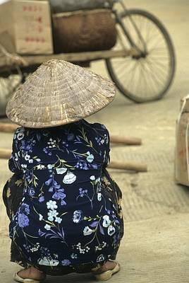 Pingxiang Street Scene, Hand Carts Art Print