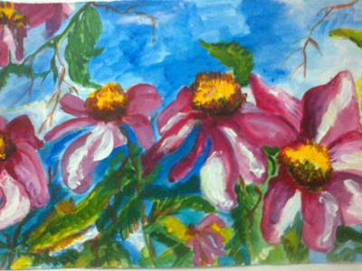 Painting - Pink Blooms by Seema Sharma