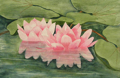 Pink Reflections Art Print