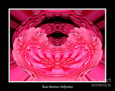 Photograph - Pink Roses Polar Coordinates Effect by Rose Santuci-Sofranko
