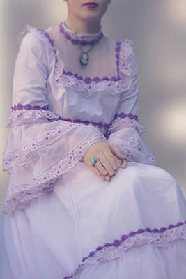 Pink Wedding Dress Art Print