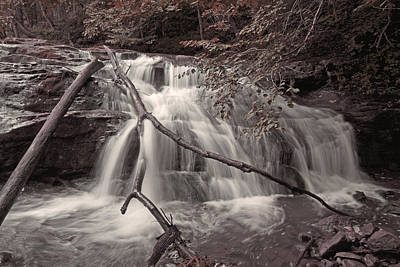 White And Black Waterfalls Photograph - Pinnacle by Betsy Knapp