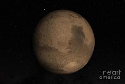 Planet Mars Art Print by Stocktrek Images