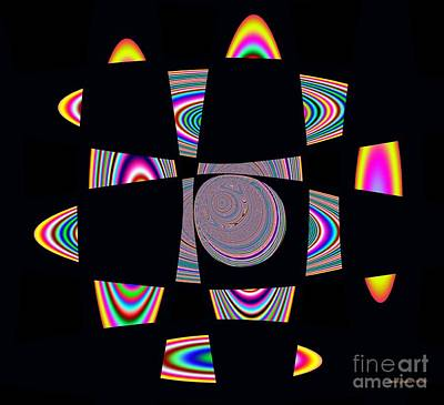 Digital Art - Planetary Rings Maze by Deborah Juodaitis