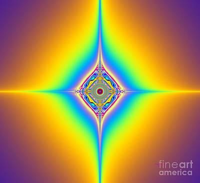 Digital Art - Planetary Star Rings by Deborah Juodaitis