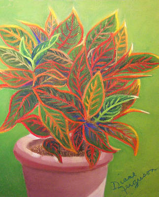 Art Print featuring the pastel Plant Portrait I by Diane Ferguson