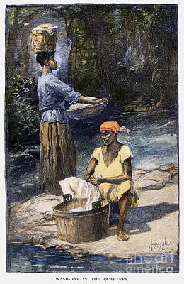 Washtubs Photograph - Plantation Life, 1886 by Granger