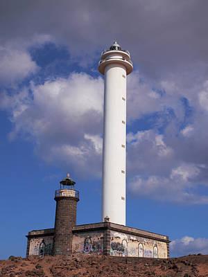 Jouko Lehto Royalty-Free and Rights-Managed Images - Playa Blanca lighthouses by Jouko Lehto