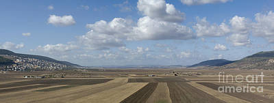 Plowed Agricultural Fields In The Beit Netofa Valley Art Print by Noam Armonn