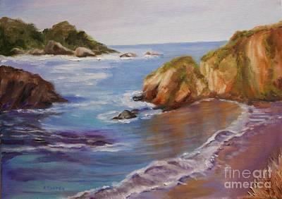 Painting - Point Lobos Shoreline by Alice Gunter