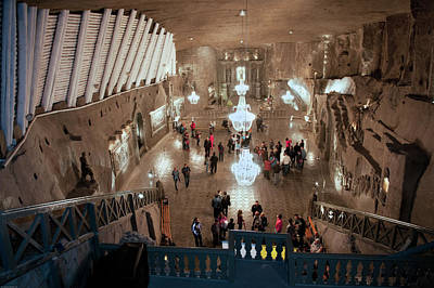 Photograph - Poland Salt Mine by Johnny Sandaire