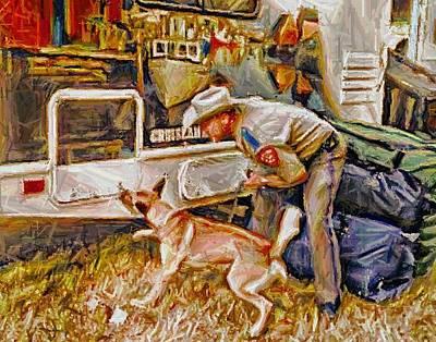 Digital Art - Police Dog Hero by Carrie OBrien Sibley